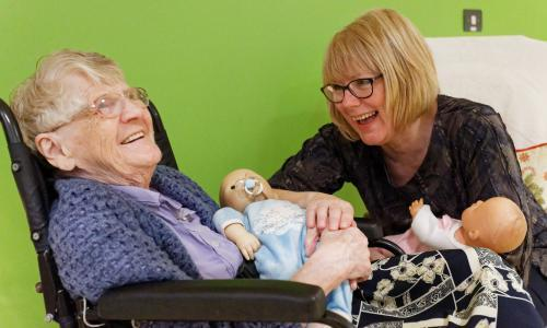 'They remind me of my twins': how lifelike dolls are helping people with dementia