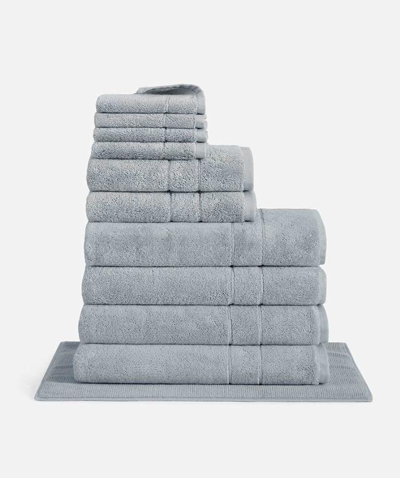 """<p>Moving soon? This bundle is perfect for those wanting to completely <a href=""""https://www.realsimple.com/shop/home/bedding-bath/bath-linens-a1928449175.html"""">replace their bath towels</a> and other bathroom essentials. Choose from four different towel colors, and you'll receive four bath towels, two hand towels, four washcloths, and a bath mat.</p> <p><strong>To buy: </strong>from $199; <a href=""""https://shareasale.com/r.cfm?b=845039&u=1772040&m=64892&urllink=http%3A//www.brooklinen.com/products/super-plush-move-in-bundle&afftrack=RS%252CThousandsofPeopleAreObsessedWithBrooklinen%2525E2%252580%252599sBest-SellingBedding%2525E2%252580%252594AndIt%2525E2%252580%252599sonSaleforLaborDay%252Cmalcedo805%252CBED%252CIMA%252C656900%252C201908%252CI"""" target=""""_blank"""">brooklinen.com</a>.</p>"""
