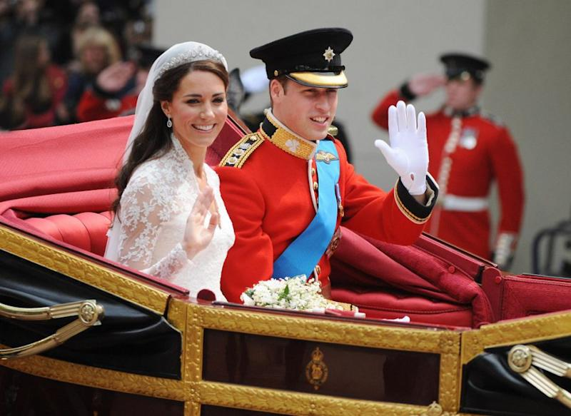 Kate and William married in April 2011. Photo: Getty