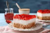 """<p>Strawberry pretzel dessert, a combination of strawberries, strawberry Jell-O, pretzels and whipped cream, is a <a href=""""https://www.thedailymeal.com/cook/best-retro-recipes-gallery?referrer=yahoo&category=beauty_food&include_utm=1&utm_medium=referral&utm_source=yahoo&utm_campaign=feed"""" rel=""""nofollow noopener"""" target=""""_blank"""" data-ylk=""""slk:retro recipe that needs to come back"""" class=""""link rapid-noclick-resp"""">retro recipe that needs to come back</a>. Iowa is leading that charge by searching for how to make it.</p>"""