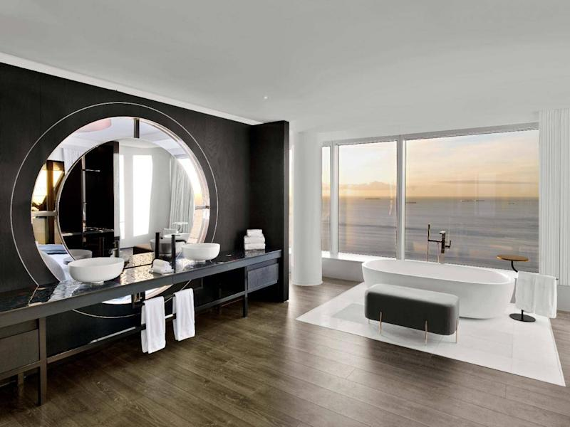 Relax in a tub with the ultimate sea view (W Hotel)