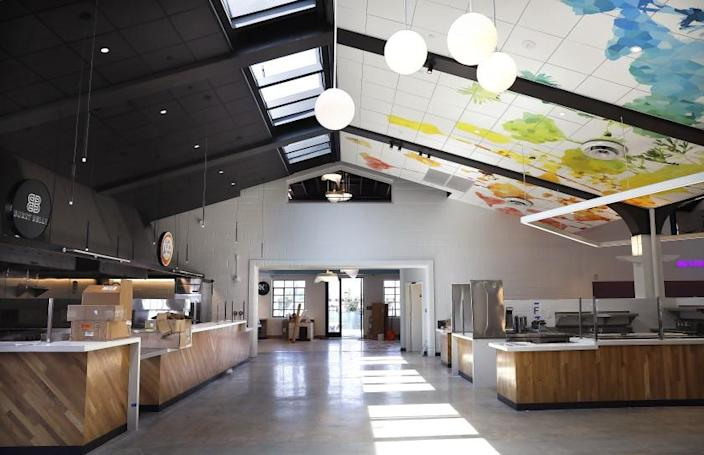 SAN GABRIEL, CALIFORNIA: Blossom Market Hall in San Gabriel is photographed on Friday, July 16, 2021. (Christina House / Los Angeles Times)