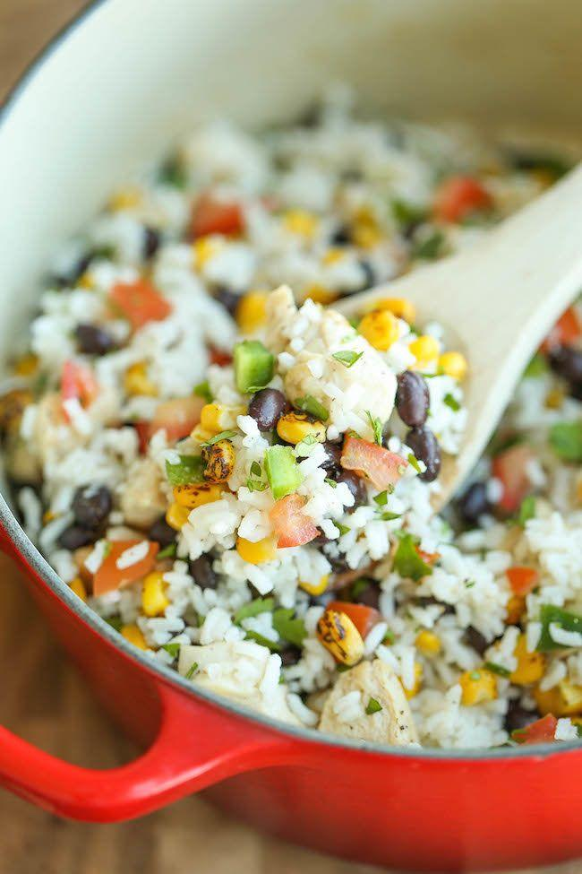 """<strong>Get the <a href=""""https://damndelicious.net/2015/07/25/one-pot-beans-chicken-and-rice/"""" target=""""_blank"""">One Pot Beans, Chicken and Rice</a> recipe from Damn Delicious</strong>"""