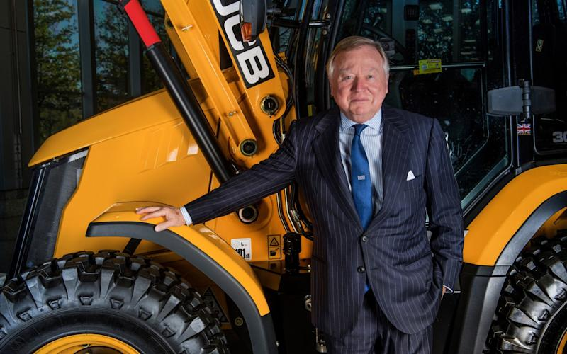 JCB chairman Lord Bamford quit the CBI over Brexit but says most businesses are not represented at the highest levels - PAUL COOPER
