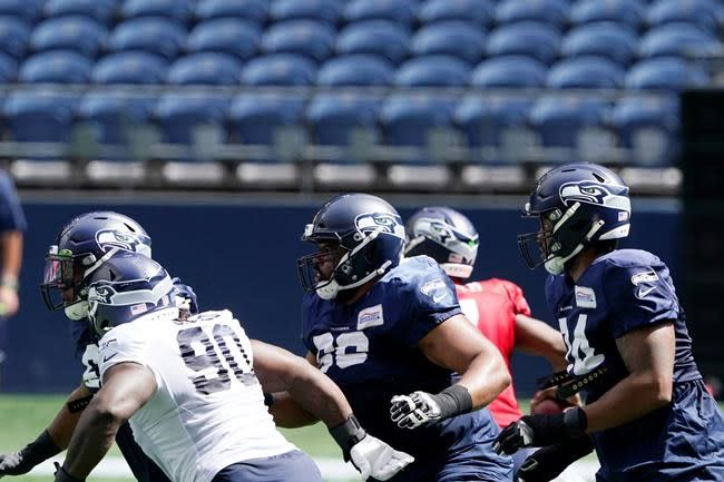 Seahawks' Jackson 'knocked out'; scrimmage halted early