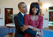 <p>And when he playfully hugged Michelle. [Photo: The White House/Pete Souza]</p>