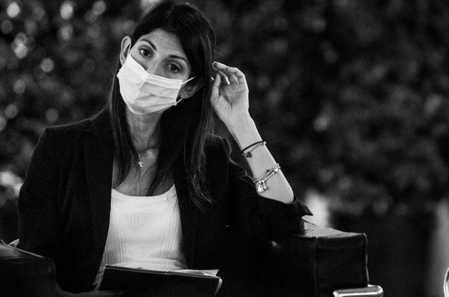 Virginia Raggi during the press conference for the presentation of the redevelopment project of Piazza dei Cinquecento, in Rome, Italy, on September 20, 2021. (Photo by Andrea Ronchini/NurPhoto via Getty Images) (Photo: NurPhoto via Getty Images)