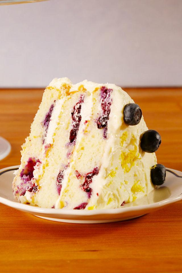 "<p>The only cake you need all spring.</p><p>Get the recipe from <a rel=""nofollow"" href=""http://www.delish.com/cooking/recipes/a52625/lemon-blueberry-cake-recipe/"">Delish</a>.</p>"