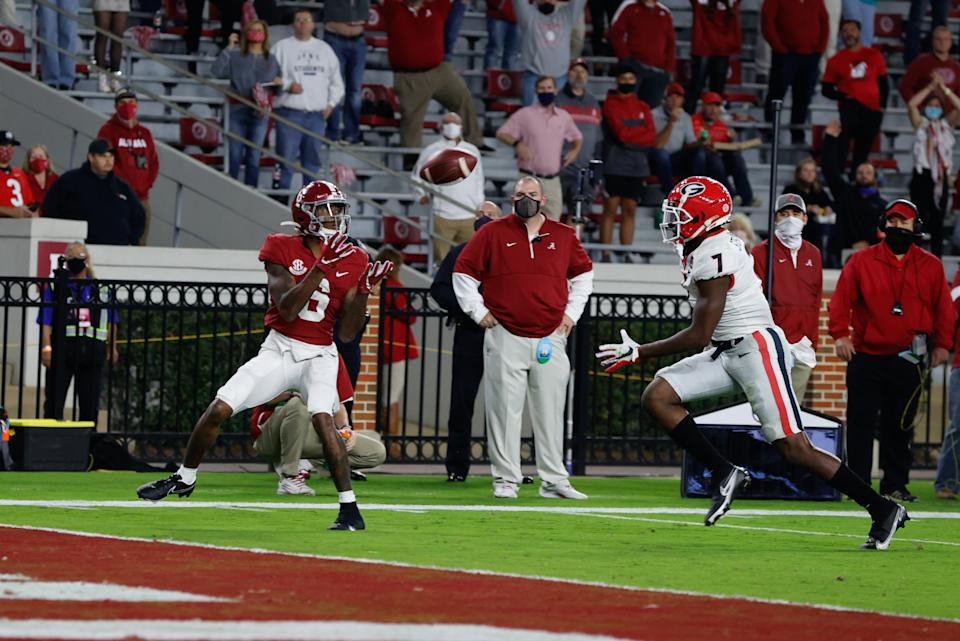 DeVonta Smith continues to be a nightmare for opponents of Alabama. (Photo by UA Athletics/Collegiate Images/Getty Images)