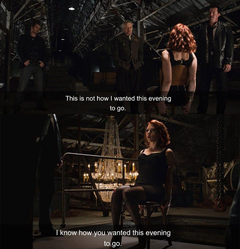 """Black Widow's first appearance in """"The Avengers."""""""