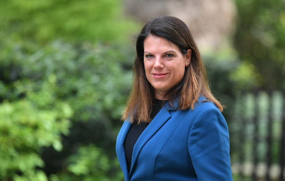 Immigration Minister Caroline Nokes arrives for a cabinet meeting at 10 Downing Street, London, on the first day that MPs return from their Easter break. (Photo by Dominic Lipinski/PA Images via Getty Images)