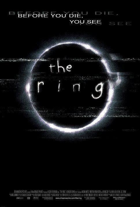 <p>Before you die, you see the ring. Also, before you die, you should totally go see <em>The Ring</em>. It's a classic by now.</p>