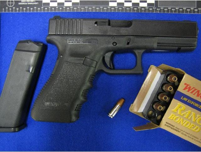 The pistol and ammunition purchased by Kyle Davies (South West Regional Organised Crime Unit/PA)