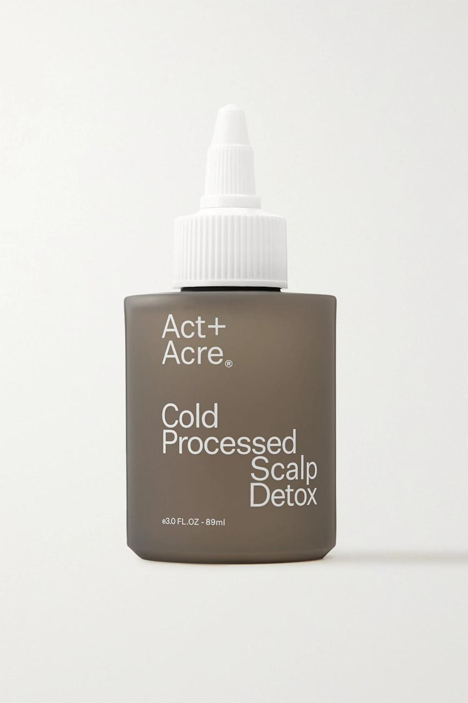 """<p>""""A vitamin-rich, oil-based treatment, the <span>Act+Acre Cold Processed Scalp Detox</span> ($42) is packed full of nourishing nutrients to cleanse and moisturize your scalp and promote healthy hair growth,"""" McKnight said.</p>"""