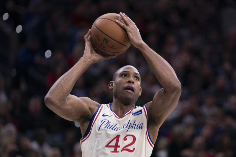 Al Horford #42 of the Philadelphia 76ers