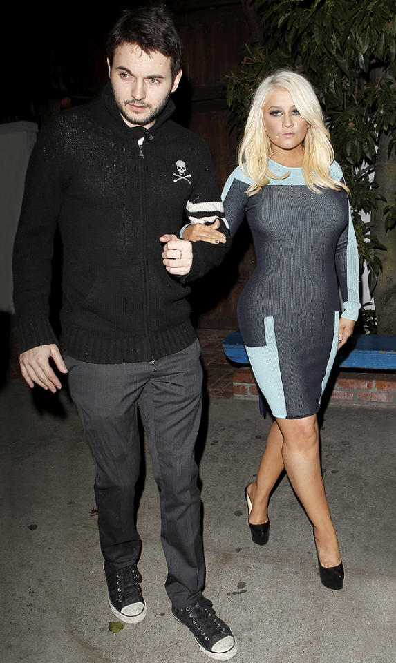 Following Tuesday's taping of the hit reality program, Xtina was spotted at L.A.'s Little Door restaurant with boyfriend Matthew Rutler. Rutler looked cute in a skull-adorned hoodie, gray slacks, and sneakers, but the diva extraordinaire stole the spotlight by showcasing her fab figure (If you got it, flaunt it!) in a skin-tight dress and platform heels, courtesy of Christian Louboutin. Which of Aguilera's two looks do you find more appealing? (4/3/2012)