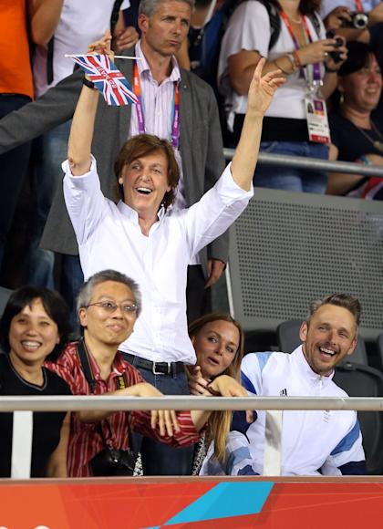 Sir Paul McCartney on Day 8 of the London 2012 Olympic Games (Getty Images)