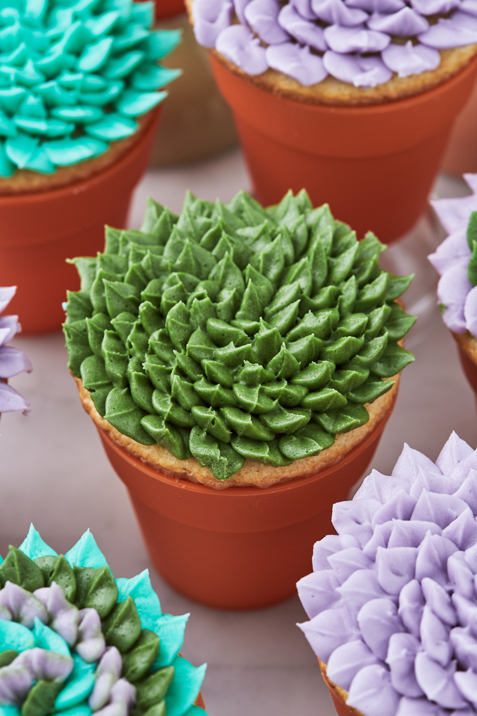 """<p>So pretty you'll think you're in a garden. </p><p>Get the recipe from <a href=""""https://www.delish.com/cooking/recipe-ideas/a19802923/succulent-cupcakes-recipe/"""" rel=""""nofollow noopener"""" target=""""_blank"""" data-ylk=""""slk:Delish"""" class=""""link rapid-noclick-resp"""">Delish</a>. </p>"""