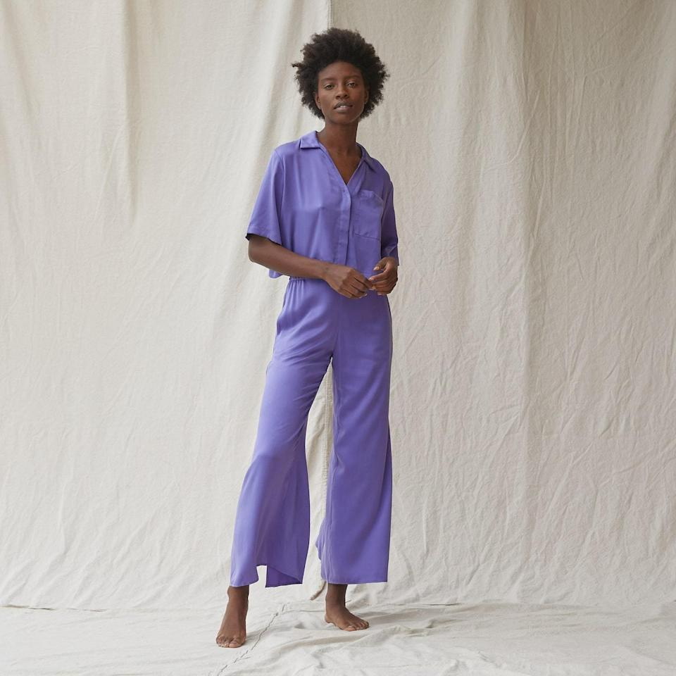 <p>This pretty and extra-silky-soft <span>Lunya Washable Silk Button Down Pant Set</span> ($258) comes in a ton of cool colors and is a perfect luxe present.</p>
