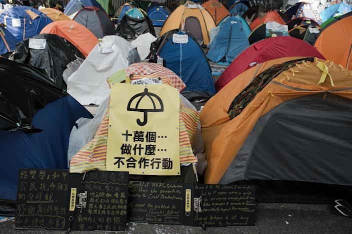 Beijing has recently been the target of criticism over demands for free elections in Hong Kong (AFP Photo/Nicolas Asfouri)