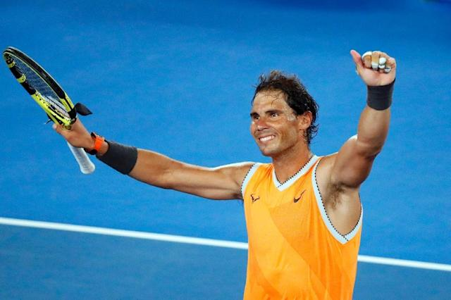 Rafael Nadal is bidding for his own slice of history by becoming the first man in the Open era, and only the third in history, to win each Grand Slam on two or more occasions (AFP Photo/DAVID GRAY)