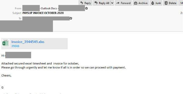 New payslip scam stealing Aussies' bank details. Source: MailGuard