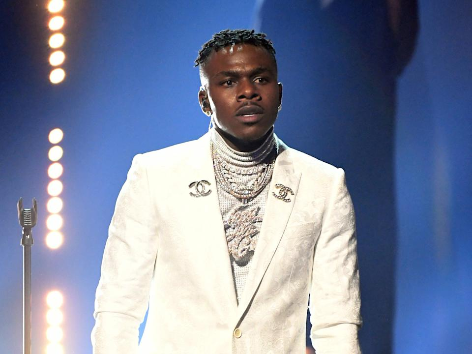 <p>DaBaby performs during the 63rd Grammy Awards on 14 March 2021 in Los Angeles, California</p> (Kevin Winter/Getty Images for The Recording Academy)