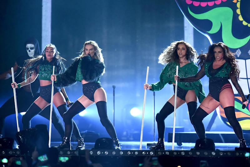 Stage presence: Little Mix perform on stage during the BRIT Awards 2016 (Ian Gavan/Getty)
