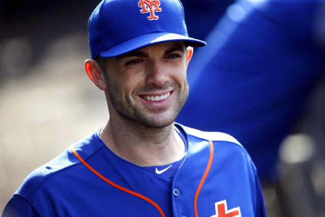 FILE - In this Sept. 30, 2018, file photo, New York Mets' David Wright returns to the dugout after an on-field ceremony during a baseball game against the Miami Marlins in New York. Former Mets captain Wright is becoming a special adviser to New York chief operating officer Jeff Wilpon and general manager Brodie Van Wagenen. In making the announcement Monday, Jan. 7, 2019, the Mets said the 36-year-old third baseman will be placed on unconditional release waivers. (AP Photo/Jason DeCrow, File)