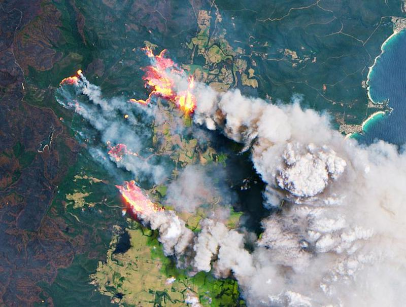 Australia wildfires contribute to big rise in global carbon dioxide levels