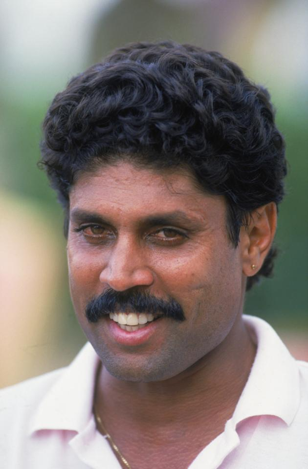 Indian cricketer Kapil Dev Ramlal Nikhanj at Sharjah, in the United Arab Emirates, 1987. (Photo by Chris Cole/Getty Images)