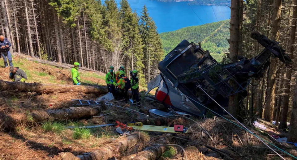 The Stresa-Mottarone cable car crashed, killing at least 14 people. Source: Reuters