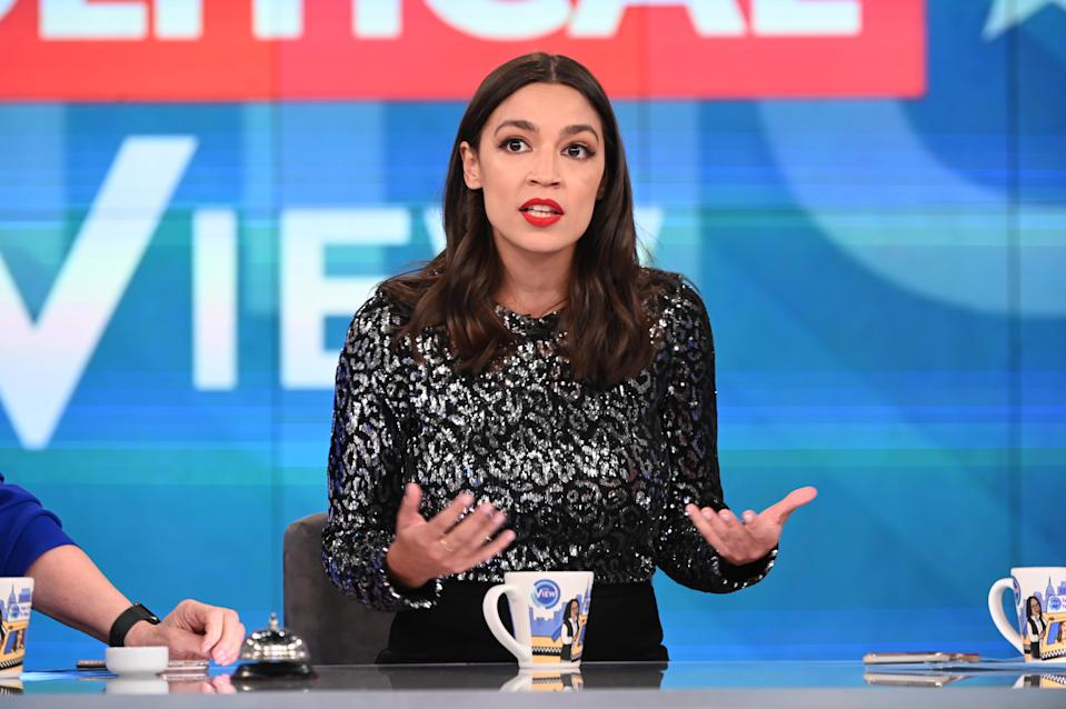 """Alexandria Ocasio-Cortez fired back at the New York Post about a story describing the dress she wore on """"The View."""" (Photo: Jenny Anderson/ABC via Getty Images)"""