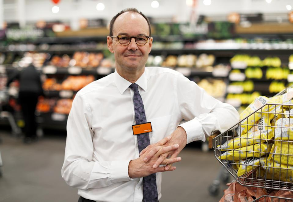Mike Coupe, CEO of Sainsbury's poses in a store in Redhill, Britain, March 27, 2018. REUTERS/Peter Nicholls