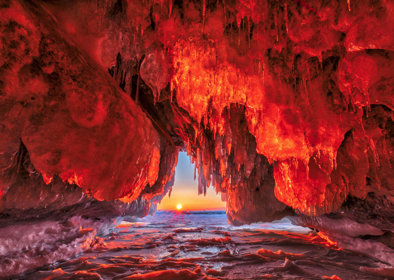 <p>These stunning photographs really do show a land of fire and ice! (Caters News) </p>