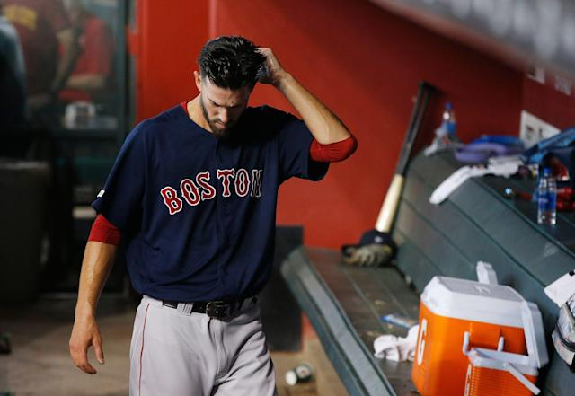 The struggles of Rick Porcello and the Red Sox starting rotation are just one reason for the team's dreadfully slow start. (AP Photo/Ross D. Franklin)