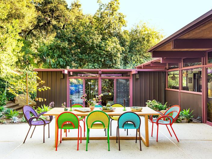 "<cite class=""credit""><a href=""https://www.architecturaldigest.com/story/this-lively-california-home-is-a-riot-of-color-pattern-and-texture?mbid=synd_yahoo_rss"" rel=""nofollow noopener"" target=""_blank"" data-ylk=""slk:This Lively California Home Is a Riot of Color, Pattern, and Texture"" class=""link rapid-noclick-resp"">This Lively California Home Is a Riot of Color, Pattern, and Texture</a>. Photo by Laure Joliet.</cite>"