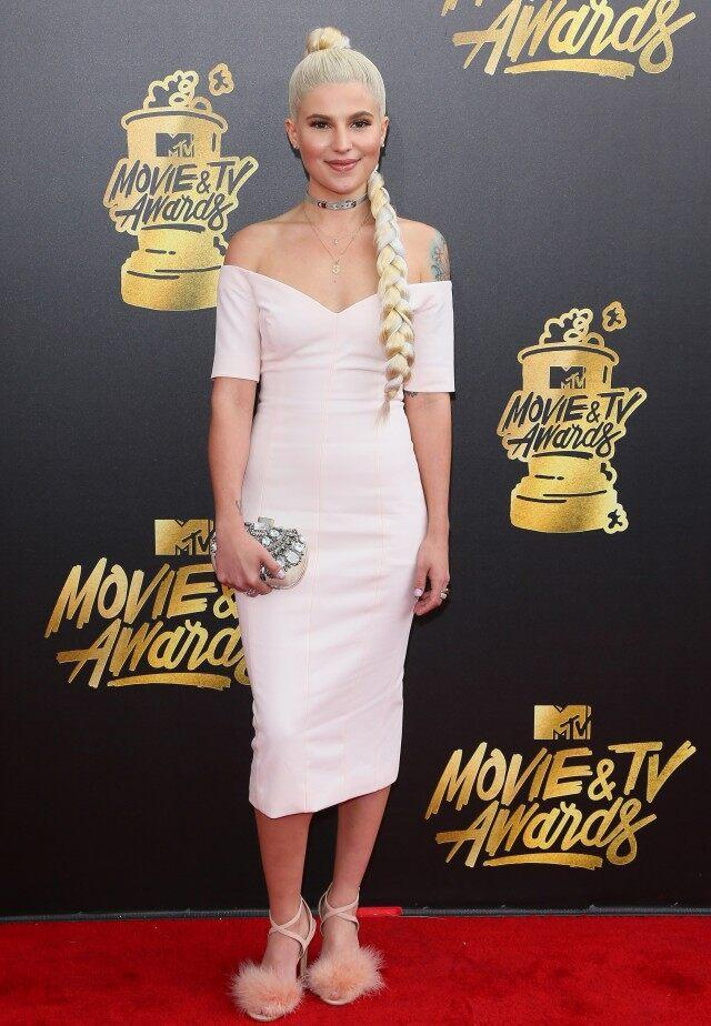 Carly Aquilino attends the 2017 MTV Movie and TV Awards at The Shrine Auditorium on May 7, 2017 in Los Angeles, California.