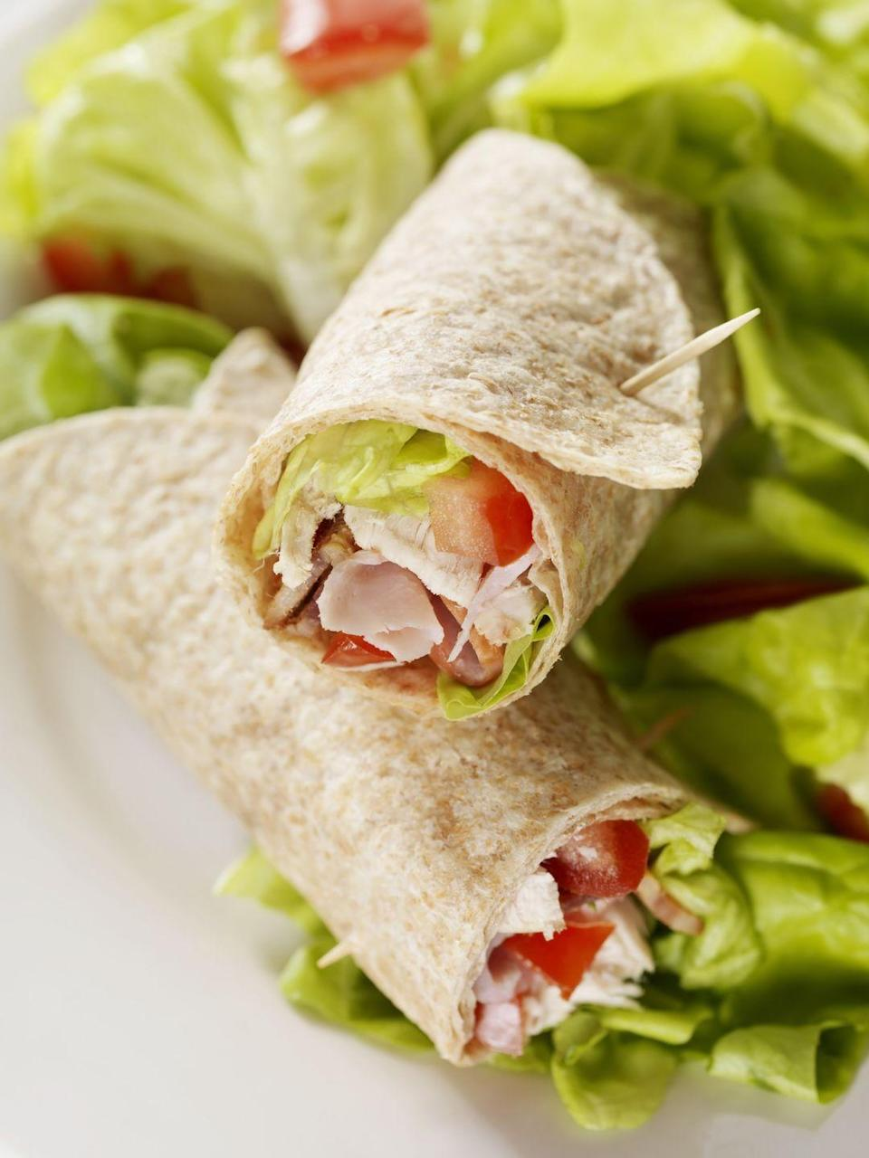 """<p>Make this simple wrap using your leftover turkey for a light and refreshing meal.</p><p><em><a href=""""https://www.womansday.com/food-recipes/food-drinks/recipes/a16456/turkey-melon-wraps-2675/"""" rel=""""nofollow noopener"""" target=""""_blank"""" data-ylk=""""slk:Get the recipe from Woman's Day »"""" class=""""link rapid-noclick-resp"""">Get the recipe from Woman's Day »</a></em></p>"""