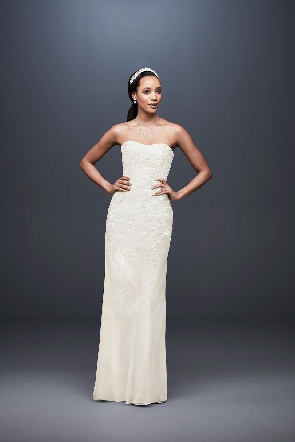 <p>Strapless dress. (Photo: Courtesy of David's Bridal) </p>