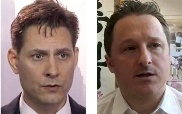 Michael Kovrig, left, and Michael Spavor, right, were arrested by China in the wake of charges against Huawei executive Meng Wanzhou. U.S. President Joe Biden has called for their release.