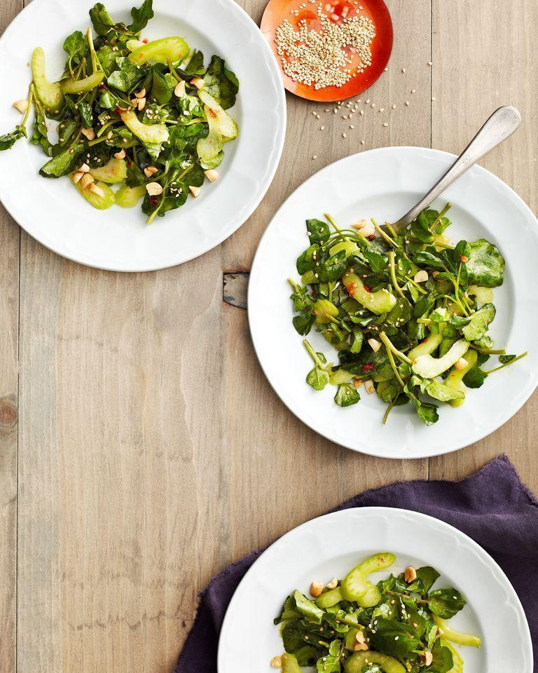 """<p>Fragrant and savory sesame seeds are a beautiful complement to the peppery watercress. <br></p><p><em><a href=""""https://www.womansday.com/food-recipes/food-drinks/recipes/a39775/sesame-watercress-salad-recipe-clv0214/"""" rel=""""nofollow noopener"""" target=""""_blank"""" data-ylk=""""slk:Get the Sesame Watercress Salad recipe."""" class=""""link rapid-noclick-resp"""">Get the Sesame Watercress Salad recipe.</a></em></p>"""