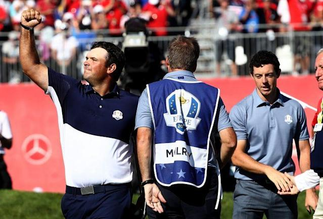 Patrick Reed finished off Rory McIlroy. (Getty Images)