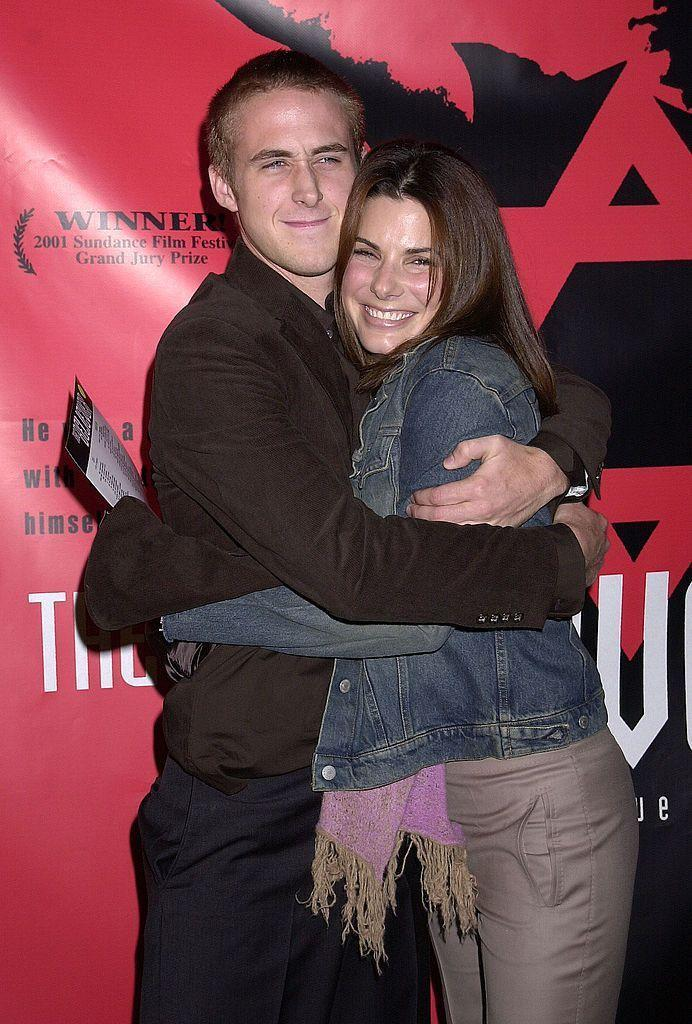 """<p>Sandra, who is 16 years his senior, and Ryan dated for a year in 2002, after meeting on the set of Murder By Numbers. In a 2011 <a href=""""https://www.usmagazine.com/celebrity-news/news/ryan-gosling-exes-sandra-bullock-rachel-were-the-best-girlfriends-ever-2011179/"""" rel=""""nofollow noopener"""" target=""""_blank"""" data-ylk=""""slk:interview"""" class=""""link rapid-noclick-resp"""">interview</a> (presumably before he met wife Eva Mendes), Ryan said she was one of his best girlfriends, commenting, """"I had two of the greatest girlfriends of all time. I haven't met anybody who could top them.""""</p>"""