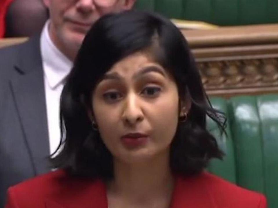 Zarah Sultana giving her maiden speech in the House of Commons after her election in 2019Parliament Live