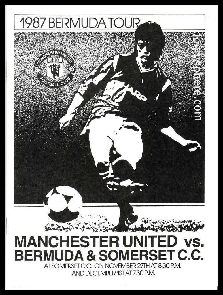 The programme for the only Man United game Ferguson ever played in