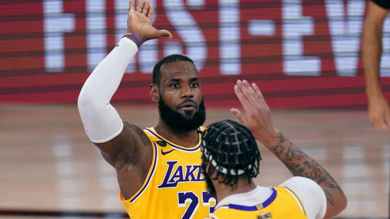 Los Angeles Lakers dominate game one of NBA Finals against Miami Heat