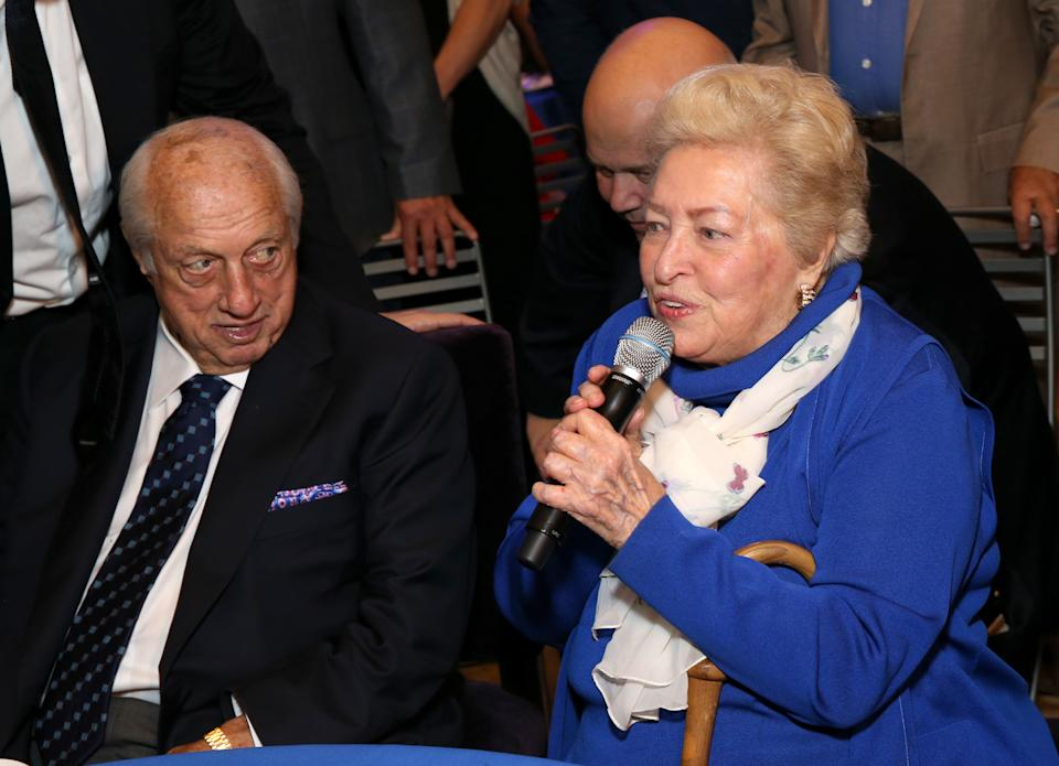 LOS ANGELES, CA - SEPTEMBER 24:  Dodgers legend Tommy Lasorda and Jo Lasorda at Tommy Lasorda's 90th Birthday Celebration at The Getty Center on September 24, 2017 in Los Angeles, California.  (Photo by Phillip Faraone/Getty Images for Tommy Lasorda)