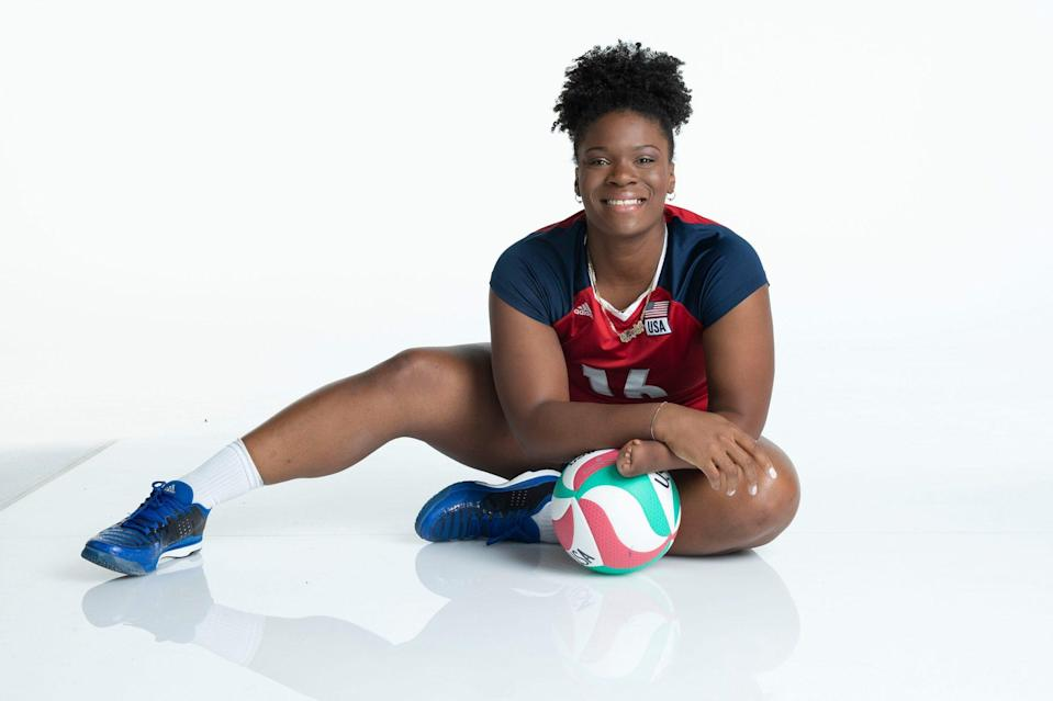 "<p>Sitting volleyball player Nieves, 31, won the team gold medal at the 2016 Paralympics in Rio. In addition to competing, she gives back to others with physical disabilities by working at a camp called NubAbility Athletics teaching sports to children ages 5-18 in the summers. She also founded <a href=""https://www.limitlesspeopleinc.org/"" rel=""nofollow noopener"" target=""_blank"" data-ylk=""slk:Limitless People Inc."" class=""link rapid-noclick-resp"">Limitless People Inc.</a>, where she works with limb different and able-bodied children to learn to play volleyball.</p>"
