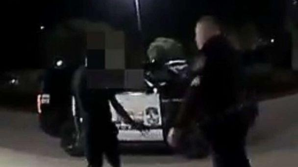 PHOTO: Seen in bodycam footage, Jasper Miller, 14, was arrested in McKinney, Texas, on Saturday, Oct. 26, 2019, out front of a movie theater. (McKinney Police Department)